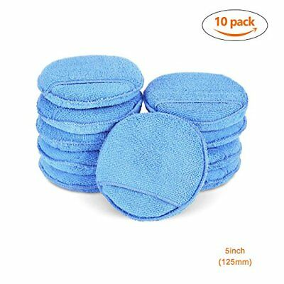 10Pcs Car Microfiber Wax Applicator Pads with pocket Car Clean Cleaning For Car