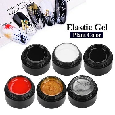 6 Colors Sculpture 3D Carved Glue Drawing Painting UV Gel Acrylic Nail Art Tool