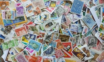 World Stamp mix 2,500 Stamps to sort on and off paper incl older. No GB