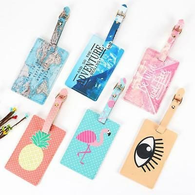 Luggage Tag Travel Suitcase Bag Id Tags Address Label Baggage Card Holder,