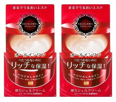SHISEIDO AQUALABEL Special Gel Cream Moist All in One 90g from Japan ×2