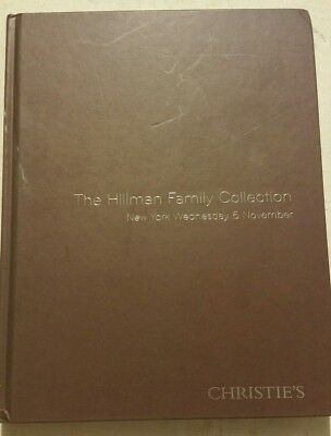 Collection Of Hillman Family Hardbound Auction Catalog Collection Christies 2008