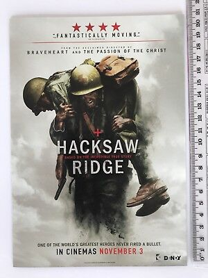 Promotional Movie Flyer - Hacksaw Ridge