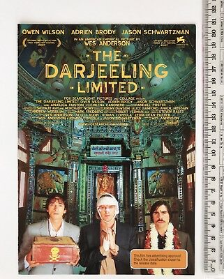 Promotional Movie Flyer - The Darjeeling Limited - Wes Anderson