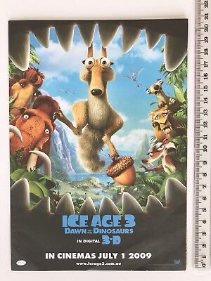 Promotional Movie Flyer - Ice Age 3 / Night At The Museum 2 - With Activities