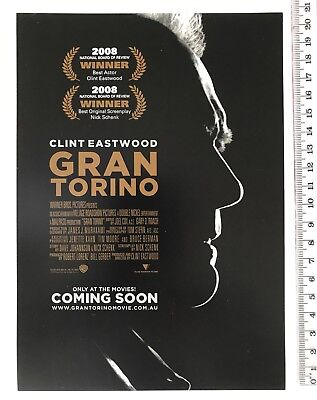Promotional Movie Flyer - Grab Torino - Clint Eastwood