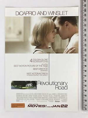 Promotional Movie Flyer - Revolutionary Road - Leonardo DiCaprio Kate Winslet