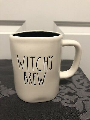 Rae Dunn Large Letter Witch S Brew Coffee Mug With Black Interior
