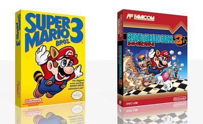 Super Mario Bros. 3 NES Replacement Game Case Box + Cover Art Work (No Game)