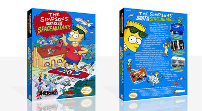 The Simpsons Bart vs. the Space Mutants NES Game Case Box + Cover Art (No Game)