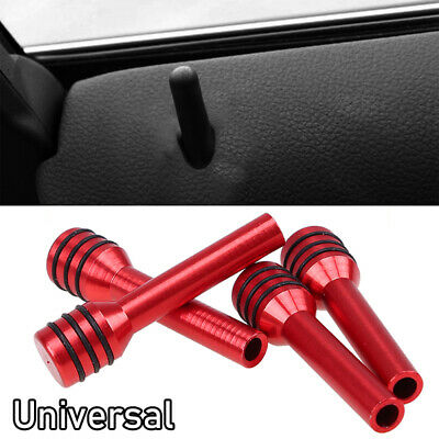 4pcs Red Aluminum Alloy Universal Car Truck Interior Door Lock Knob Pull Pin