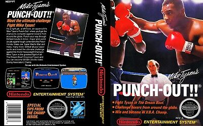 Mike Tyson Punch Out NES Replacement Game Case Box Cover Artwork Art (No Game)