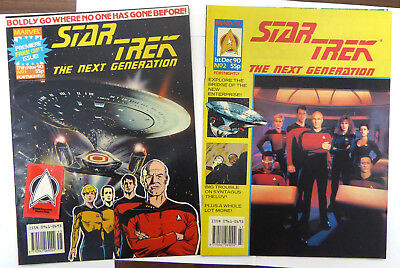 Star Trek The Next Generation - Marvel Comics - Number 1 & 2 - Still with Gift