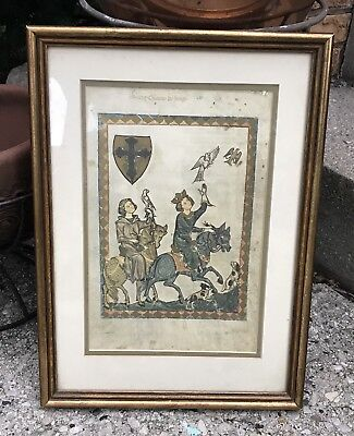 """Estate Vintage Newcomb Macklin 18"""" by 13"""" Gilded Wood Picture Or Mirror Frame"""