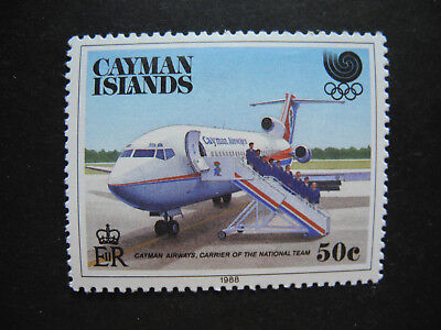 Cayman Islands Stamp  1988 Olympics Cayman Airways Team Carrier Mnh