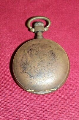 Old Tiny Pocketwatch Case Pocket Watch Housing Vintage Antique Small Little Mini