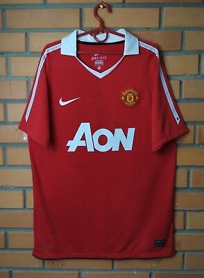 55fbac92baf Manchester United Home football shirt 2010 - 2011 size M jersey soccer Nike