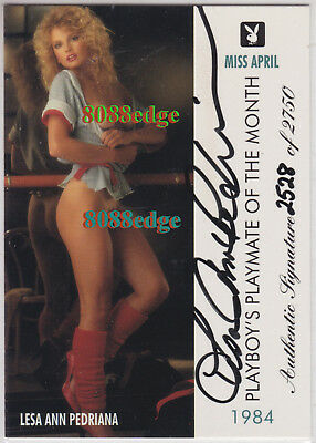 "1995 Playmate Authentic Auto #93: Lesa Ann Pedriana #/2750 Autograph ""the Chase"""