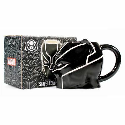 New Marvel Comics Black Panther Shaped Ceramic Mug Coffee Tea Cup Official