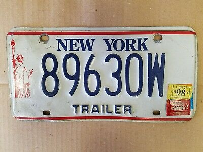 New York STATUE OF LIBERTY license plate preowned expired 98/99 stickers