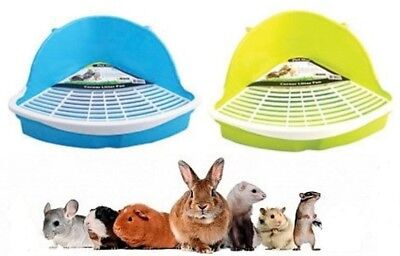 Small Animal Corner Litter Toilet Pan Tray Rabbit Hamster Guinea Pig Gerbil