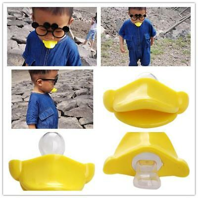 New Dummy Dummies Pacifier Baby Infant Kid Soother Maternity Joke Duck Mouth 6A