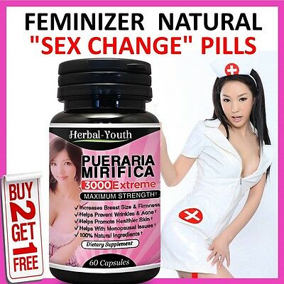 HERBAL FEMINIZER SEX CHANGE Capsules Female Hormone Oestrogen Breast Enlargement