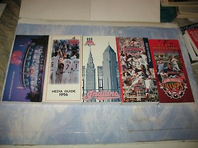 (Lot Of 5)   Cleveland Indians Media Guides   1995, 1996, 1997. 1998, 1999