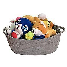 Large Rope Woven Storage Basket Bins with Handles Clothes Toys Nursery
