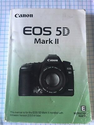 canon eos 5d mark ii instruction owners manual 5d ii book new rh picclick com canon 5d mark 2 instruction manual eos 5d mark iii user guide