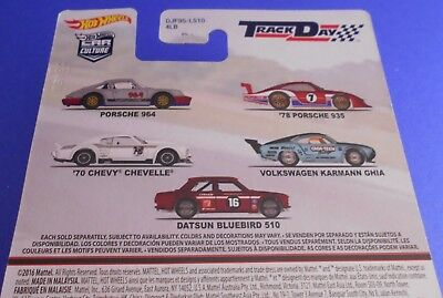 Hot Wheels Track Day Car Culture 1:64 ( SET = alle 5 Fahrzeuge) Real Riders OVP