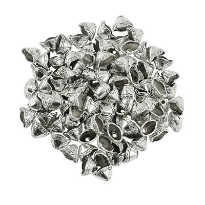 100x Tassel Cord End Cap Beads Caps Stopper Jewelry Making Findings Silver