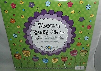 2019 wall planning calendar moms busy year