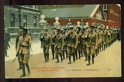 WW1 Regiment of the Prince of Wales on Way to the Front Postcard