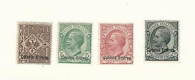 Eritrea (Italy), Postage Stamp, #19, 35-37 Mint Hinged, 1903-20