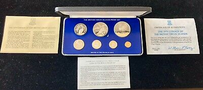 1979 British Virgin Islands 7-Coin Proof Set in Case Sterling Silver