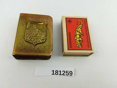 alt Streichholzschachtel Hülle Halter Wernigerode Messing Match Box Holder181259