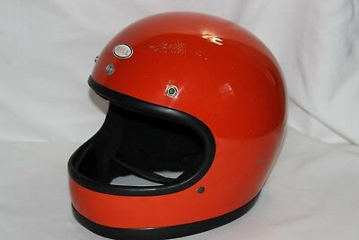7 3/8 Vtg 70s 1975 BELL STAR 120 Toptex Full Face Motorcycle Helmet