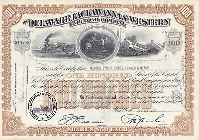 The Delaware Lackawanna & Western Railroad Company-shares v.1956
