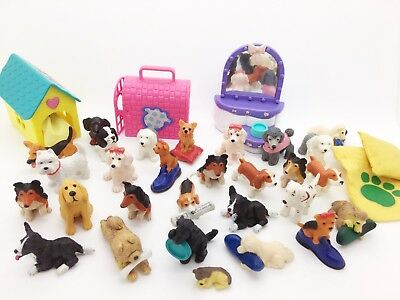 Vintage Puppy In My Pocket Animal Hospital UK Bundle of 29 Dogs and Cards Wow!