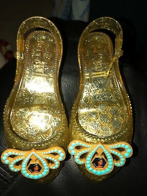 5cacb7befcac Disney Princess Elena of Avalor Shoes Dress Up Costume Gold Jellies .