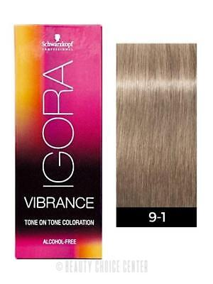 2b6f0107ee Schwarzkopf Igora Royal Vibrance Tone on Tone Hair Color 9-1 Extra Light  Blonde