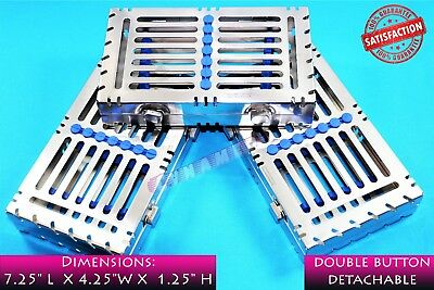 Sterilizing Tray Box Detachable + 2 Buttons For 7 Instruments Medical Premium