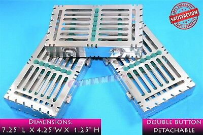 3 Green Sterilization Cassette For 7 Instruments Detachable Double Button German