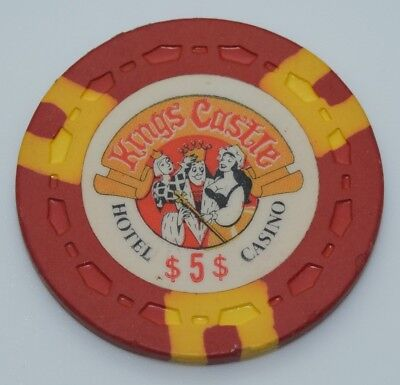 1970 Kings Castle $5 Casino Chip Lake Tahoe Nevada Sm-Crown Mold