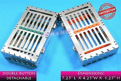 Detachable Sterilization Cassette For 7 Instruments German Premium Dental 2 Each