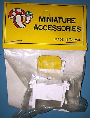 Dollhouse Miniature Yellow & White Toddler Baby Potty Seat 1:12 Vintage