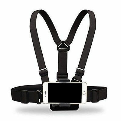 Cellphone Selfie Chest Mount Chest Harness Strap with Cell Phone Clip For iPhone