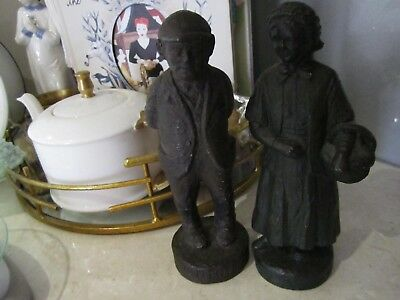 Vintage Old Man & Lady figurine DE CONTENTE De Greef