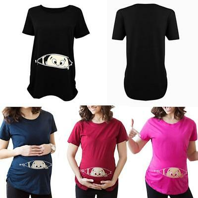 Funny Pregnant Baby Girl Pregnancy Women short Sleeve T-Shirt NEUE,